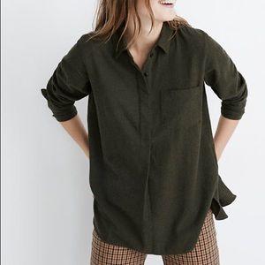 Madewell Flannel Ex Boyfriend Button Back Shirt
